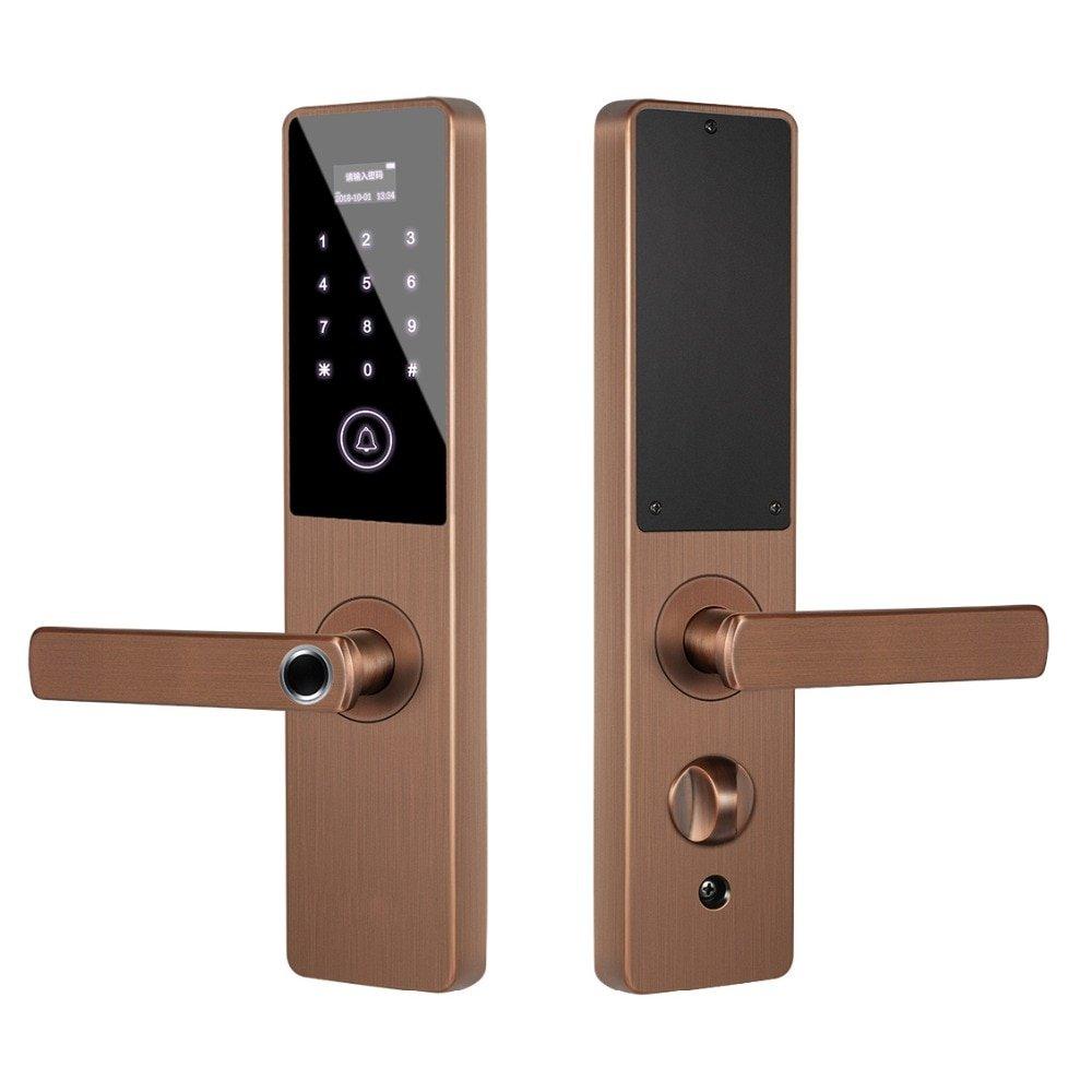 4 Ways Smart Digital Electronic Door Lock Fingerprint Touch Password