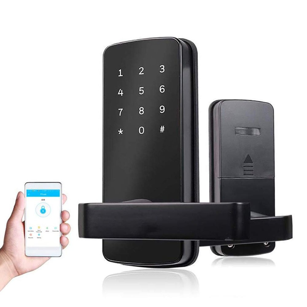 "Felisberta"" - Smart Digital Door Lock with Code + Phone Control + Key -  Wise Lock"