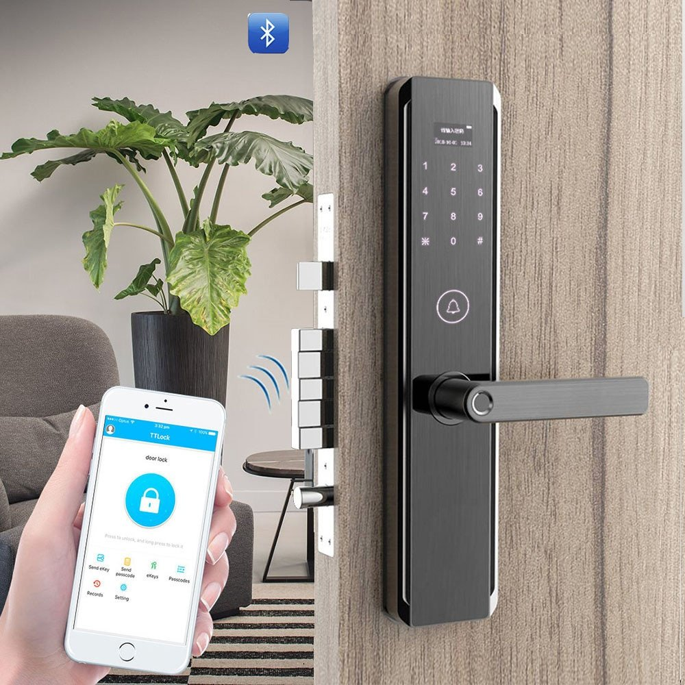 Socrates Fingerprint Digital Door Lock With Wifi App Bluetooth Password Rfid Card And Key Wise Lock
